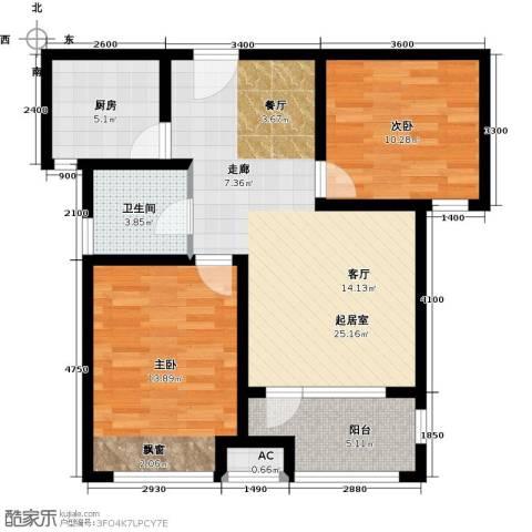 荣盛香醍荣府2室0厅1卫1厨93.00㎡户型图