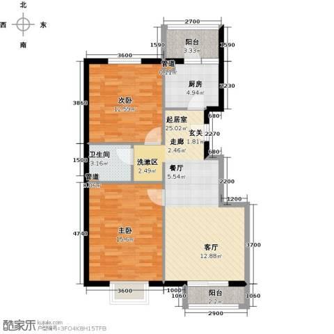 紫金新干线2室0厅1卫1厨90.00㎡户型图