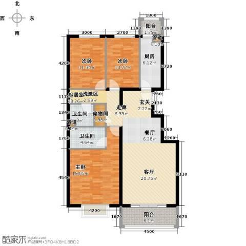 紫金新干线3室0厅2卫1厨132.00㎡户型图