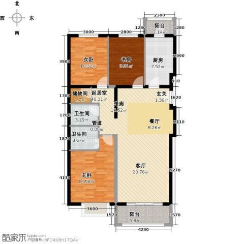 紫金新干线3室0厅2卫1厨128.00㎡户型图