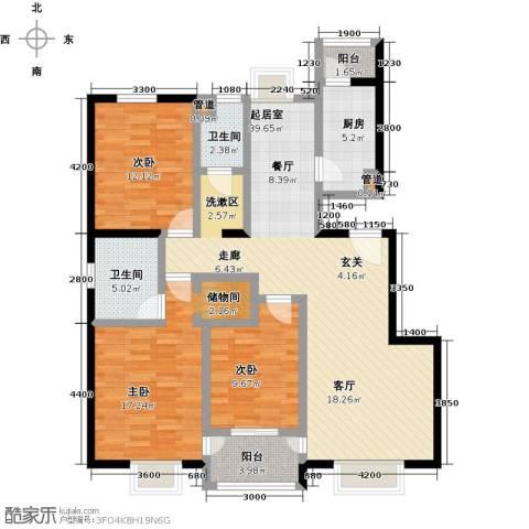 紫金新干线3室0厅2卫1厨136.00㎡户型图