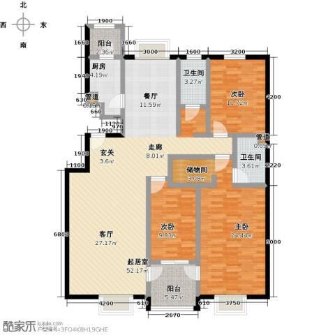 紫金新干线3室0厅2卫1厨133.00㎡户型图