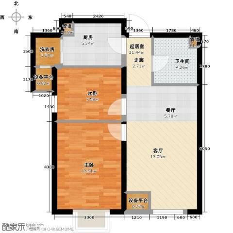龙跃财富公馆2室0厅1卫1厨82.00㎡户型图