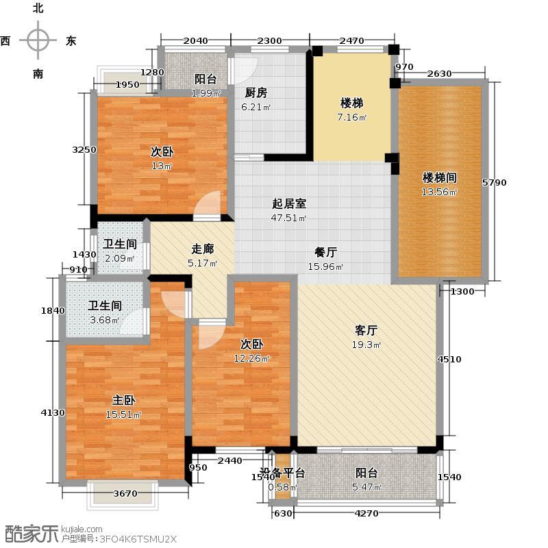 欧亚西城国际131.03㎡9/10#A3户型3室2厅2卫