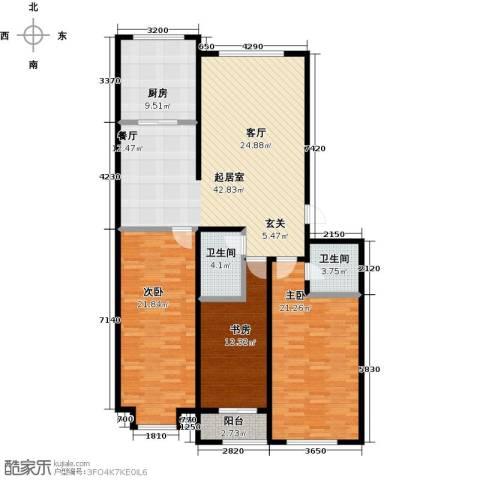 山水家园3室0厅2卫1厨137.00㎡户型图