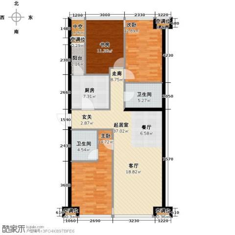 UHN国际村3室0厅2卫1厨140.00㎡户型图