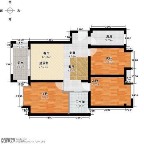 荣盛香醍荣府3室0厅1卫1厨113.00㎡户型图