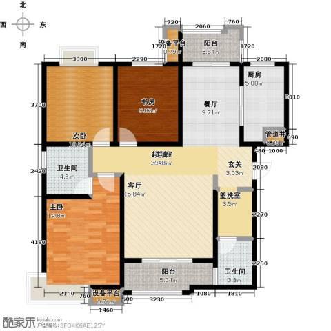 西安公馆3室0厅2卫1厨142.00㎡户型图