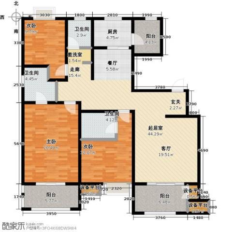西安公馆3室0厅3卫1厨173.00㎡户型图