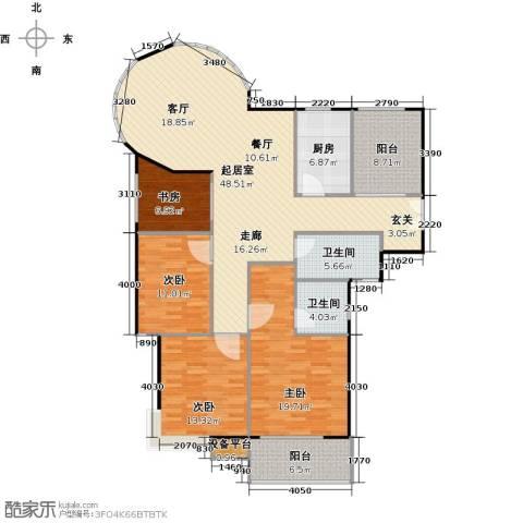 嘉宏盛世4室0厅2卫1厨132.18㎡户型图