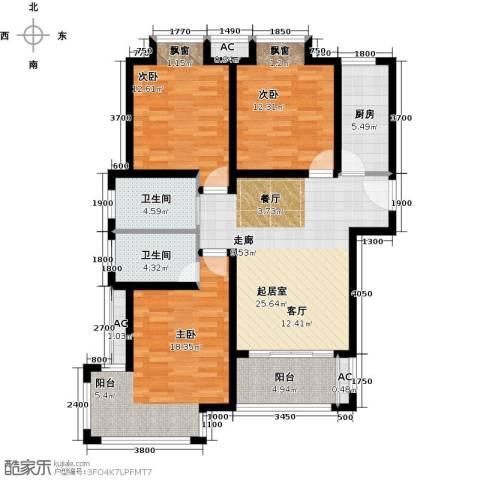 荣盛香醍荣府3室0厅2卫1厨131.00㎡户型图