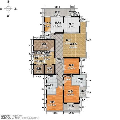 融泽府3室1厅4卫1厨227.00㎡户型图