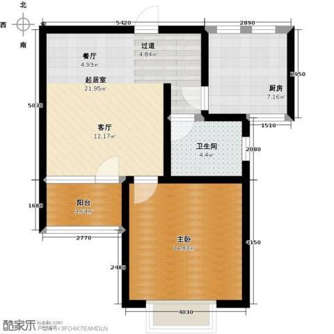 高速仁和盛庭1室0厅1卫1厨61.00㎡户型图