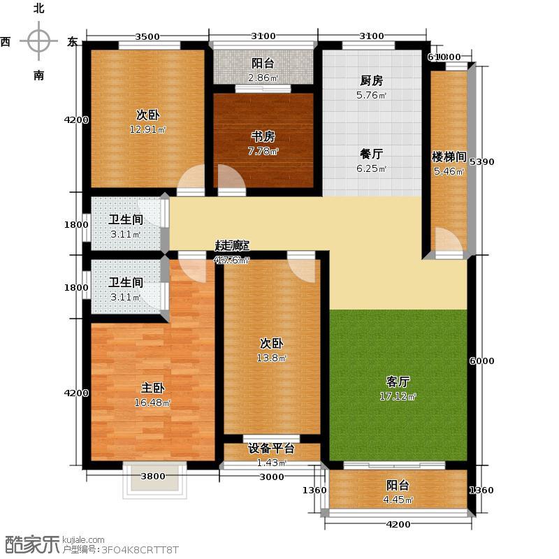 邵阳县东方明珠B户型4室2厅2卫