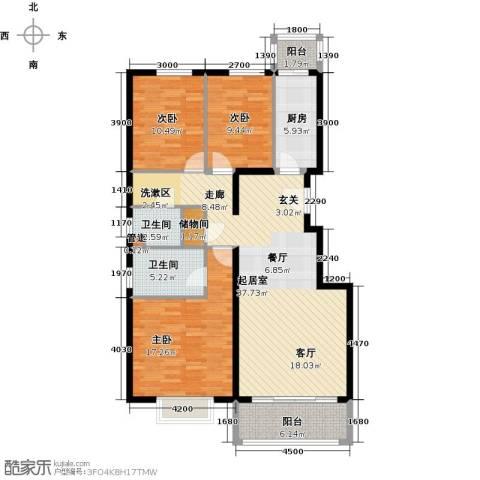 紫金新干线3室0厅2卫1厨130.00㎡户型图