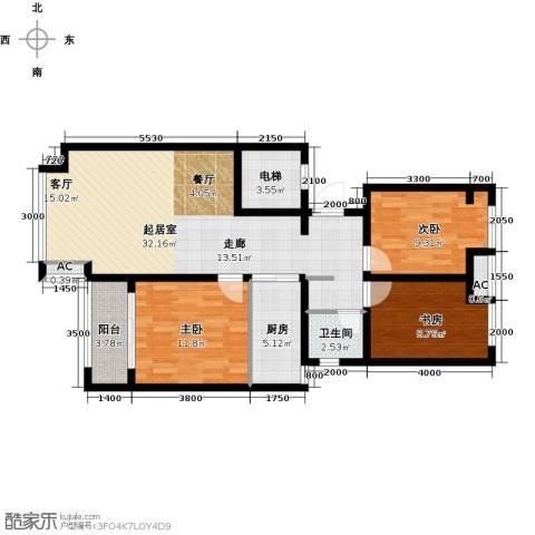 荣盛香醍荣府3室0厅1卫1厨114.00㎡户型图