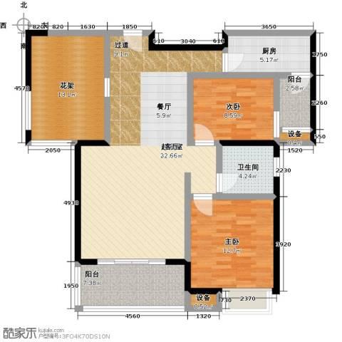 盛地沃尔玛广场2室0厅1卫1厨99.00㎡户型图