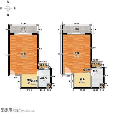 珠江绿洲1卫1厨79.00㎡户型图