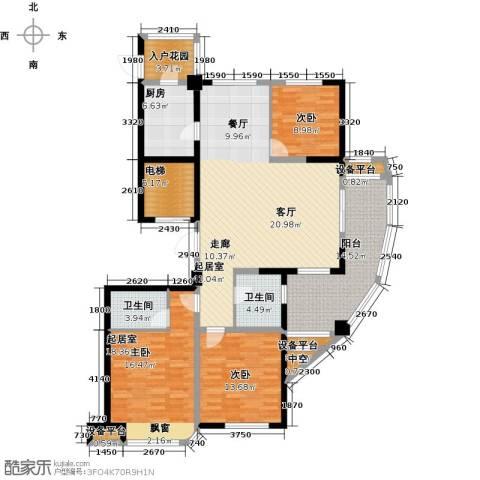 昆承湖国际花园2室0厅2卫1厨139.00㎡户型图