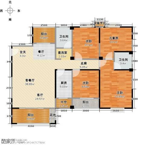 华泉盛世豪庭4室1厅2卫1厨152.00㎡户型图