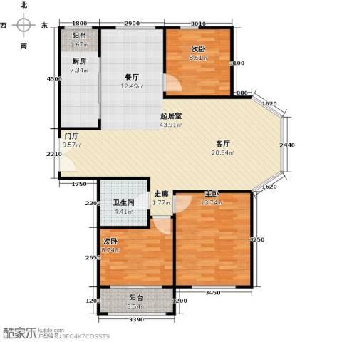 月亮湾3室0厅1卫1厨121.00㎡户型图