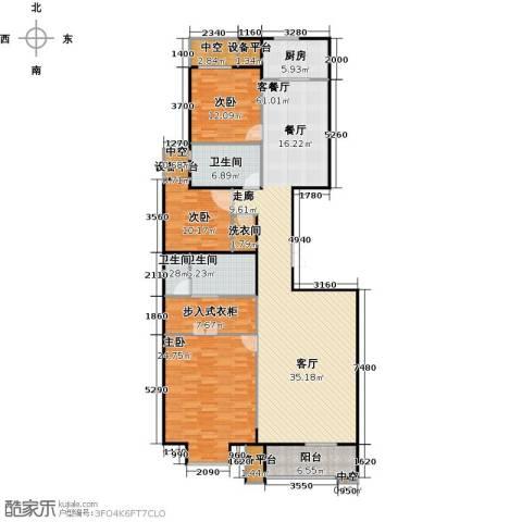 万通天竺新新家园・溪悦府3室1厅3卫1厨152.47㎡户型图