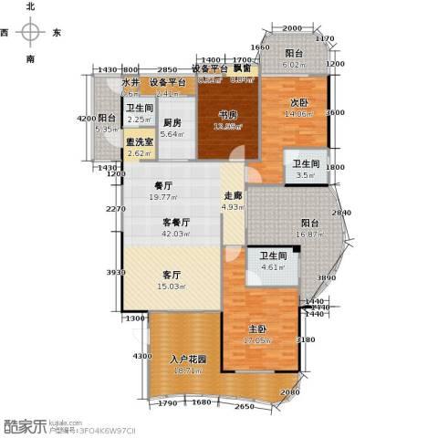 金信凤凰花园3室1厅3卫1厨206.00㎡户型图