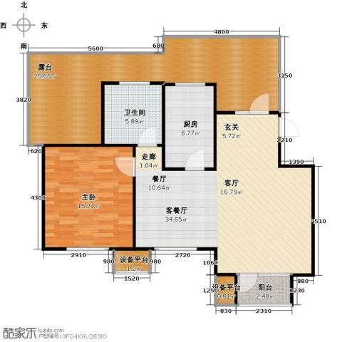 芒果郡1室1厅1卫1厨124.00㎡户型图