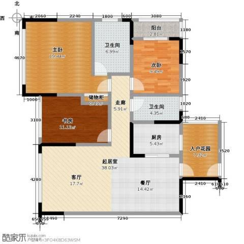 富临桃花岛3室0厅2卫1厨149.00㎡户型图