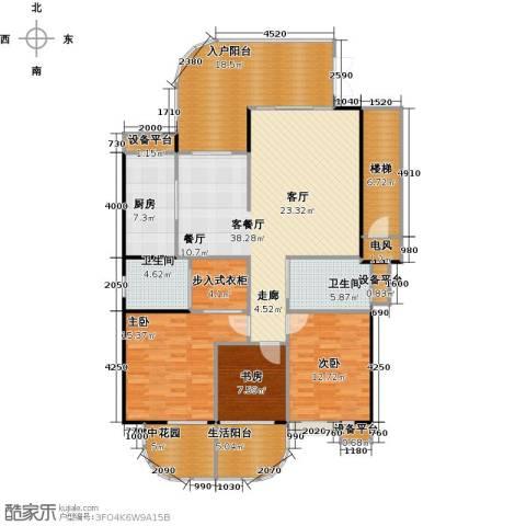 金信凤凰花园3室1厅2卫1厨183.00㎡户型图