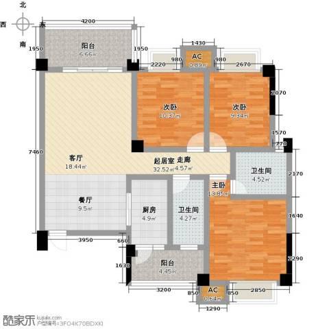 浩天岭都3室0厅2卫1厨120.00㎡户型图