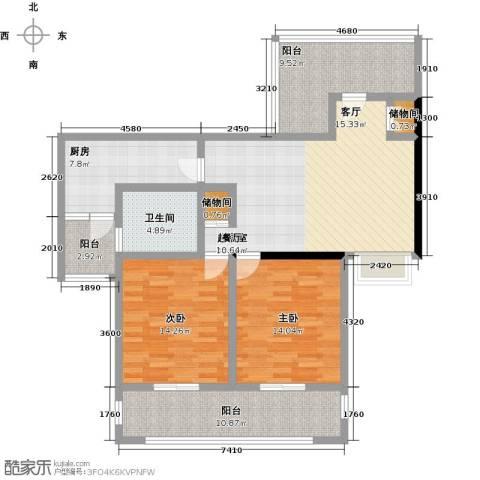 上海公馆2室0厅1卫1厨105.00㎡户型图