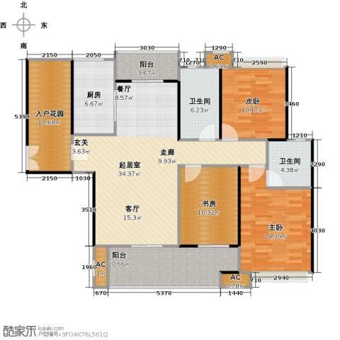 蓝光名仕公馆3室0厅2卫1厨144.00㎡户型图
