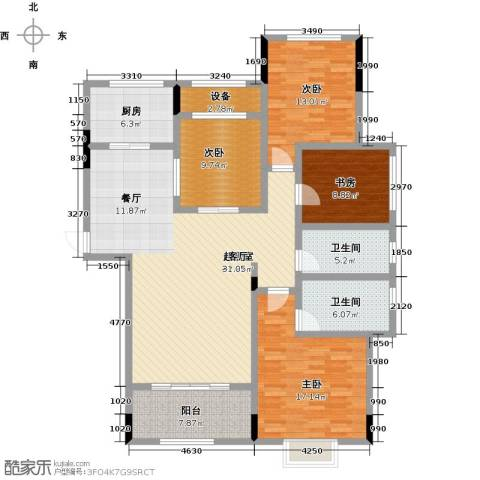 中建悦海和园4室0厅2卫1厨138.00㎡户型图