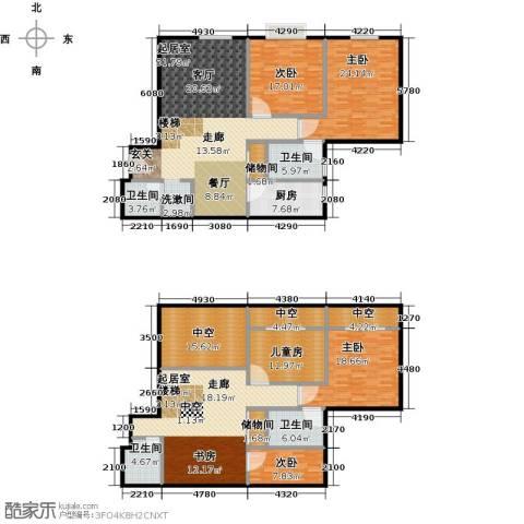 天通・公园里5室0厅4卫1厨221.81㎡户型图