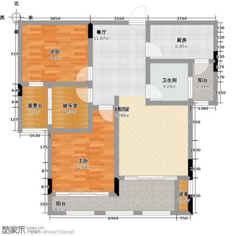 中建悦海和园2室0厅1卫1厨96.00㎡户型图