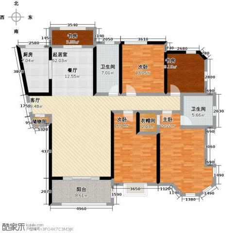 上海公馆5室0厅2卫1厨167.00㎡户型图