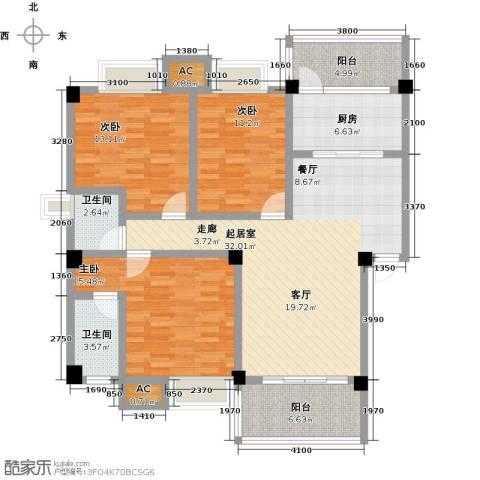 浩天岭都3室0厅2卫1厨144.00㎡户型图