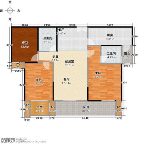 蓝光名仕公馆3室0厅2卫1厨155.00㎡户型图