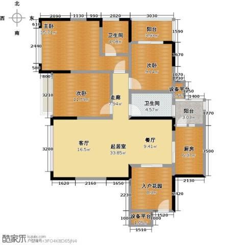 富临桃花岛3室0厅2卫1厨146.00㎡户型图