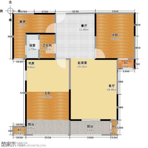 蓝光名仕公馆2室0厅1卫1厨99.00㎡户型图