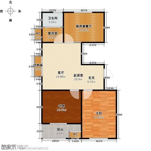 科技鑫城2室0厅1卫0厨113.00㎡户型图