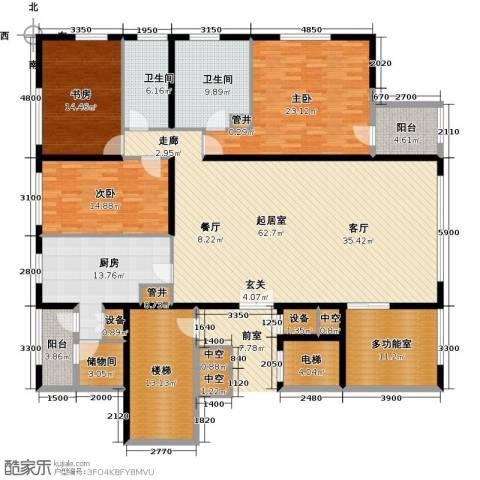 US联邦公寓3室0厅2卫1厨229.00㎡户型图
