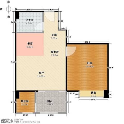 九嘉海港城1厅1卫0厨83.00㎡户型图