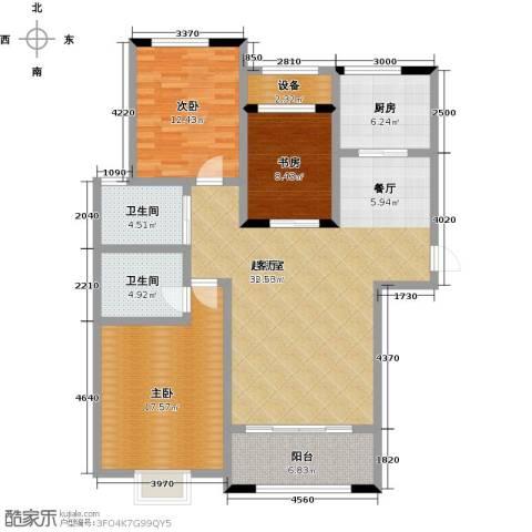 中建悦海和园3室0厅2卫1厨117.13㎡户型图