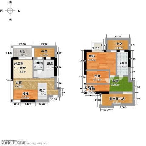 五洲国际电子城2室0厅2卫1厨51.00㎡户型图