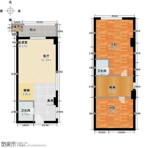 华富世家2室0厅2卫0厨134.00㎡户型图