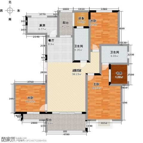 中建悦海和园4室0厅2卫1厨143.76㎡户型图