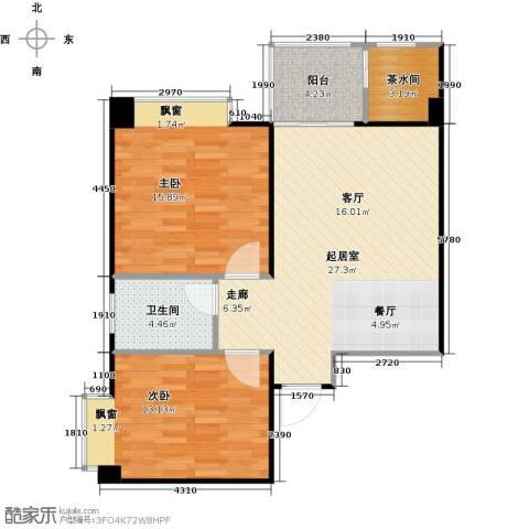 九嘉海港城2室0厅1卫0厨92.00㎡户型图