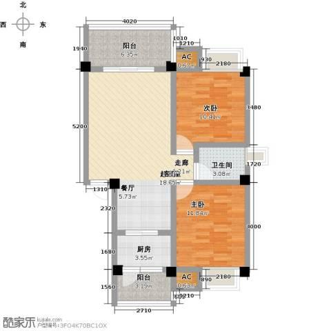 浩天岭都2室0厅1卫1厨96.00㎡户型图